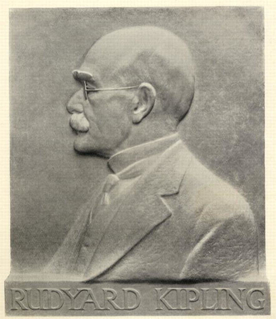 Detail of Joseph Rudyard Kipling, a plaque by Patrick Synge-Hutchison by English School