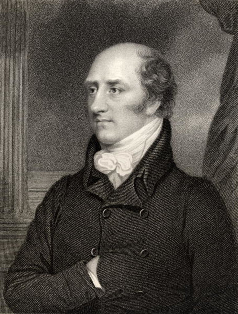 Detail of George Canning, Prime Minister by Thomas Stewardson