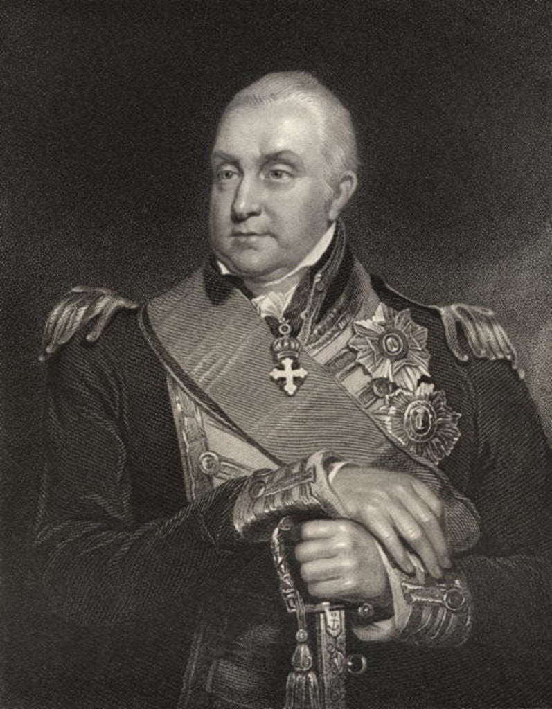Detail of Admiral Edward Pellew by William Owen