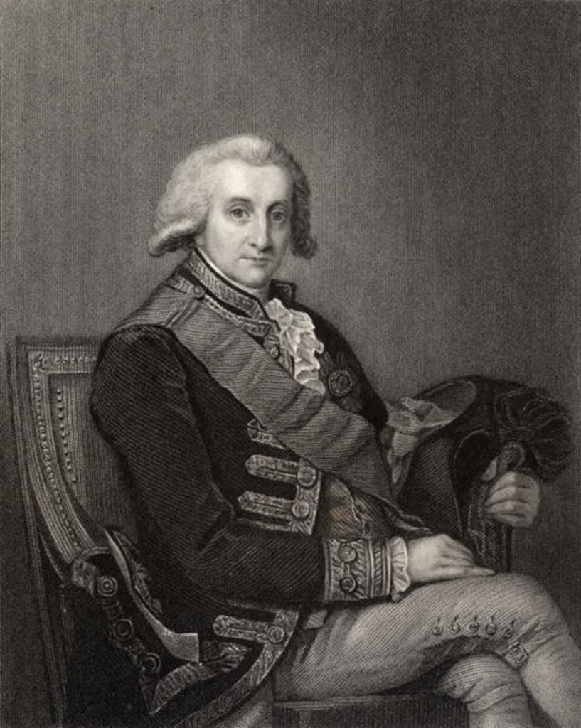 Detail of Admiral George Brydges Rodney by English School