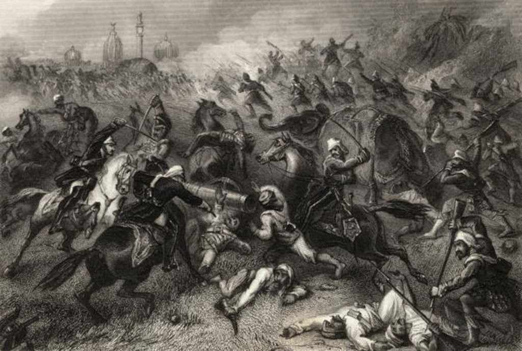 Detail of Havelock's Column attacking the Mutineers before Cawnpore in 1857 by English School