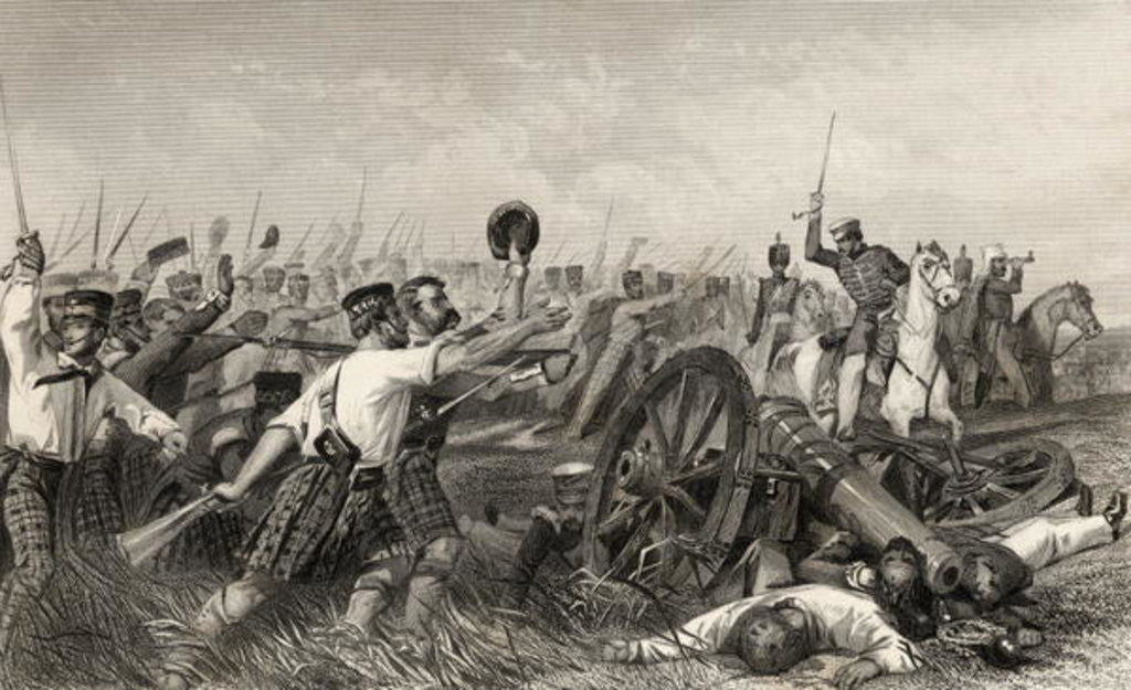 Detail of Charge of the Highlanders before Cawnpore under General Havelock by English School