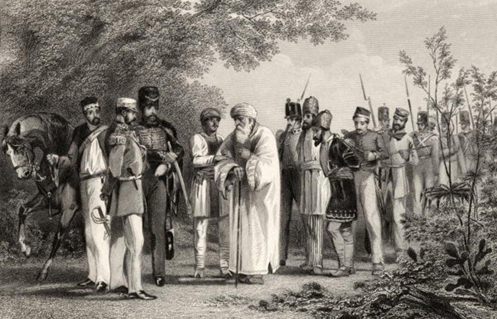 Detail of Capture of the King of Delhi by Captain Hodson by English School