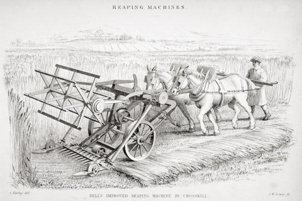 Detail of Bell's Improved Reaping Machine by Cornelius Varley