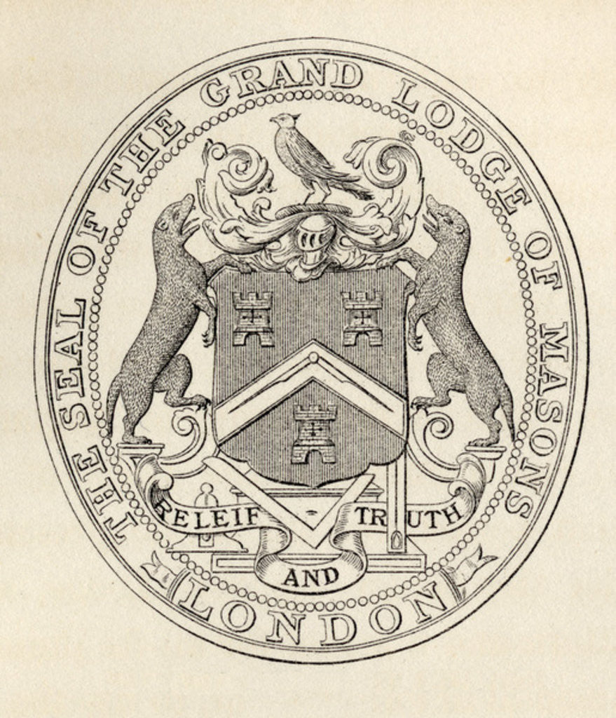 Detail of The Seal of the Grand Lodge of Masons by English School