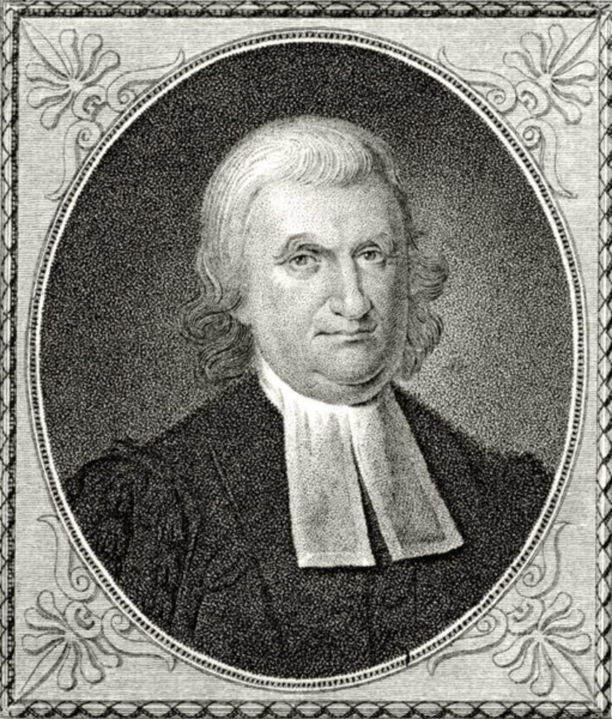 Detail of Dr John Witherspoon, engraved by James Barton Longacre by Charles Willson Peale