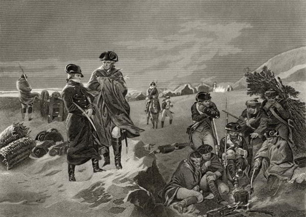 Detail of George Washington and La Fayette at Valley Forge by Alonzo Chappel