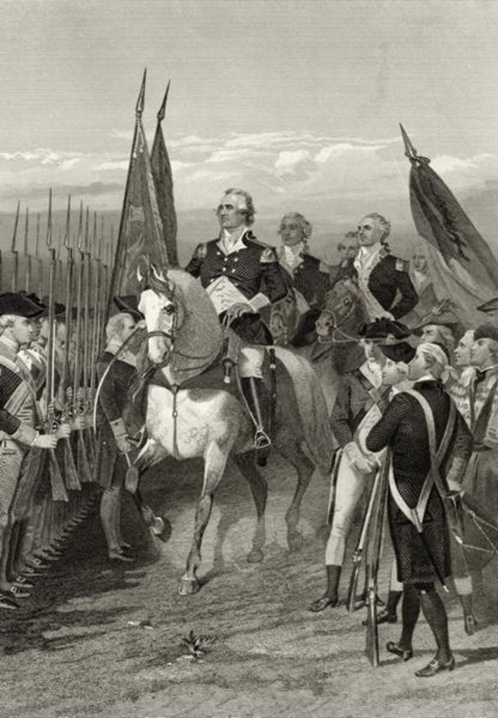 Detail of George Washington taking command of the Army by Alonzo Chappel