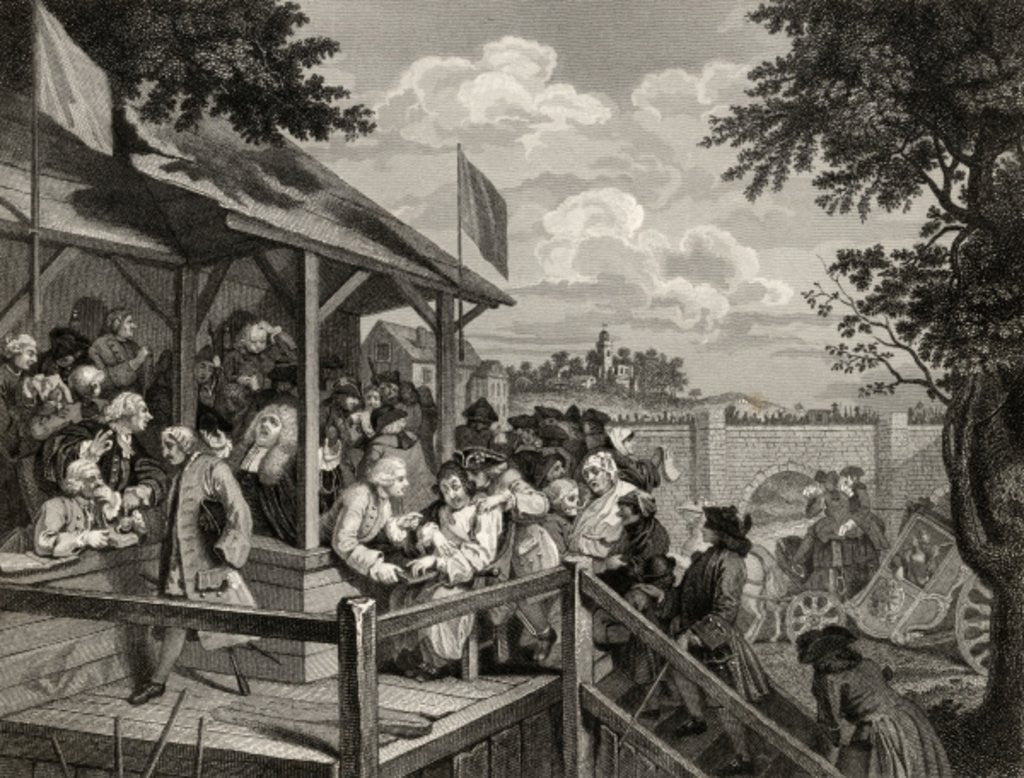 Detail of The Polling by William Hogarth