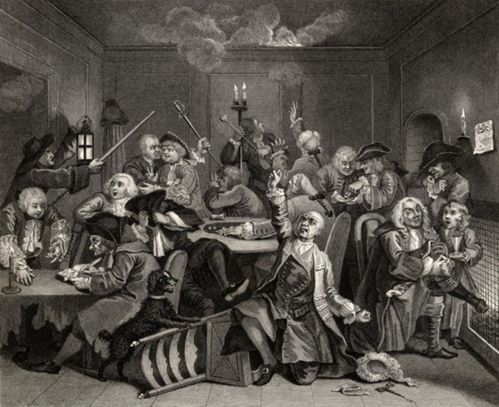 Detail of Scene in a Gaming House by William Hogarth