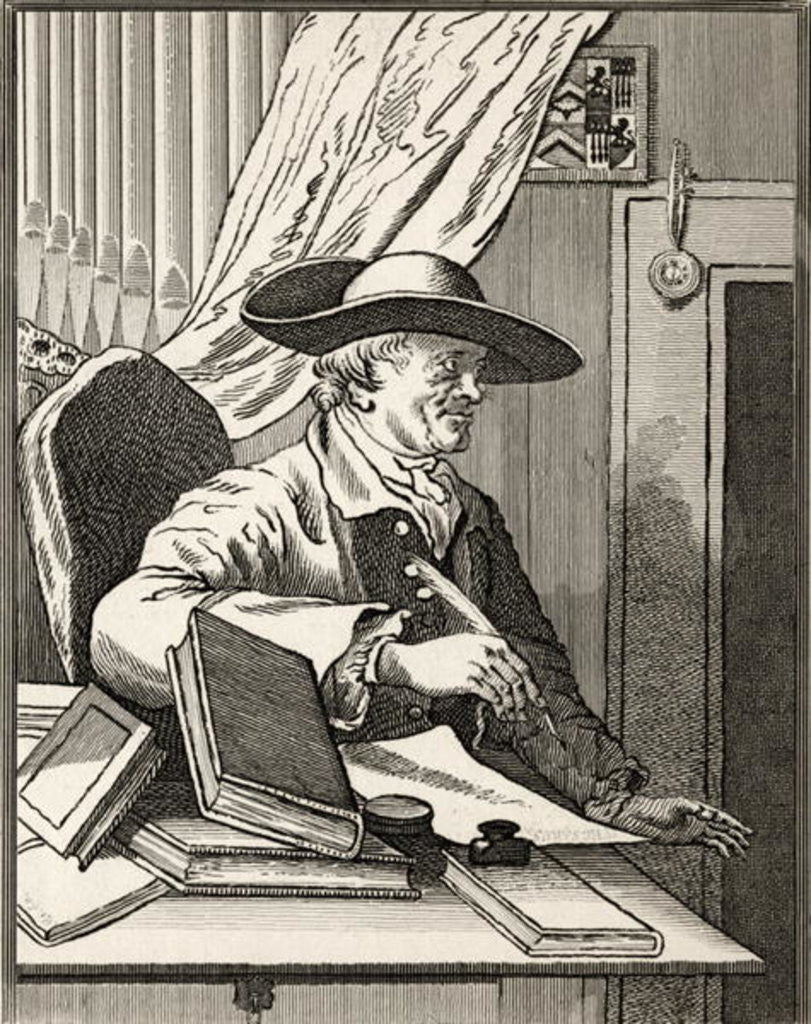 Detail of Dr Thomas Morell by William Hogarth