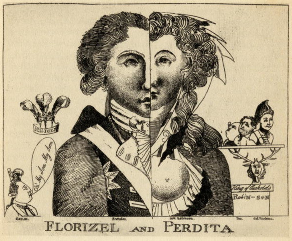 Detail of Florizel and Perdita by English School