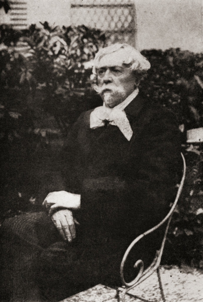 Detail of Edmond de Goncourt by Unknown photographer