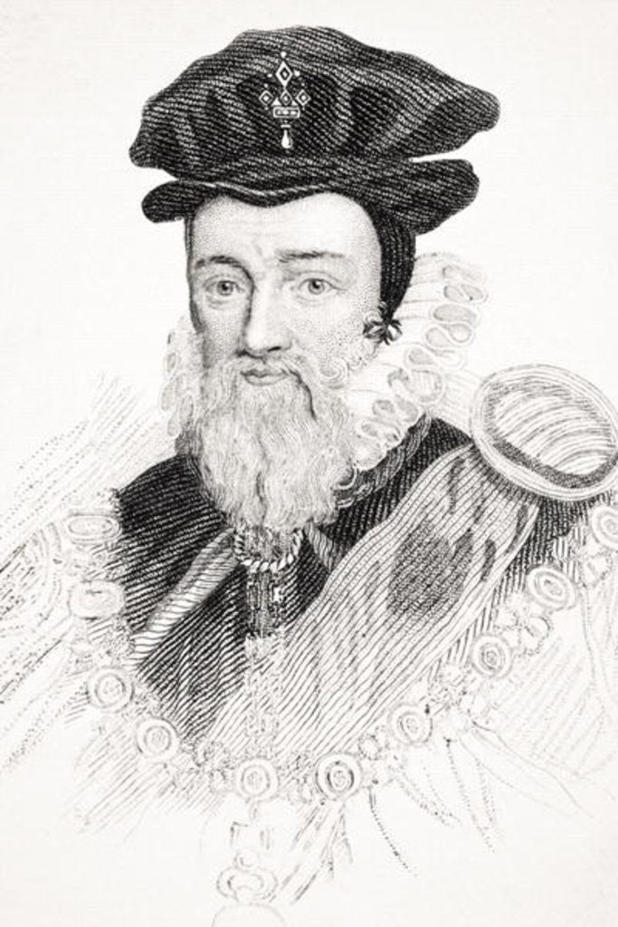 Detail of William Cecil by English School
