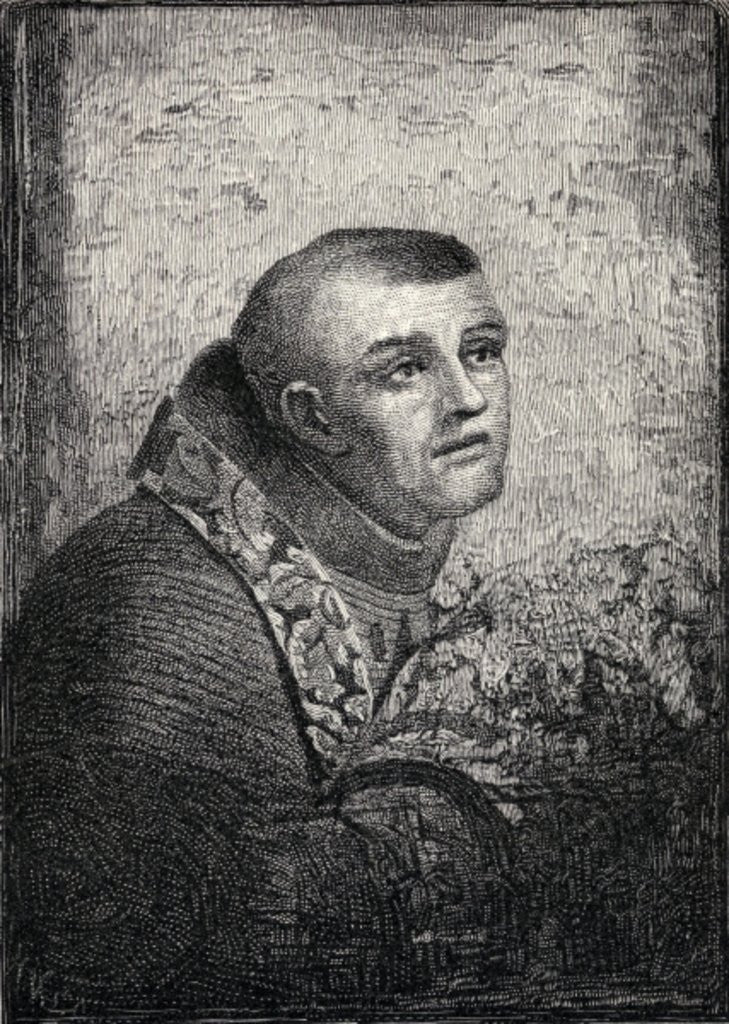 Detail of Father Junipero Serra by American School
