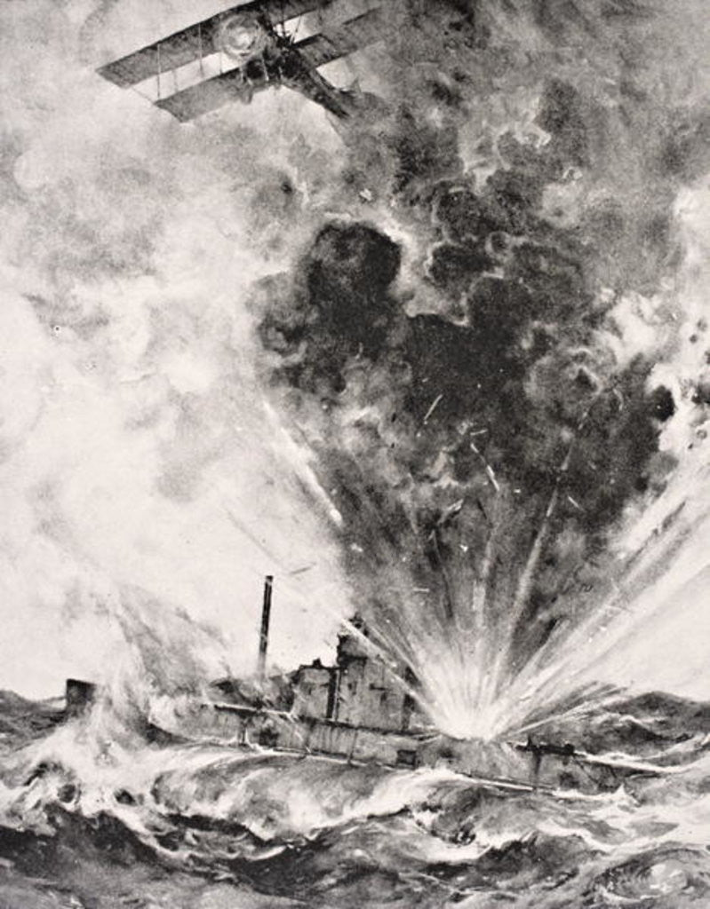 Detail of German submarine bombed and sunk August 26 1915 by English School