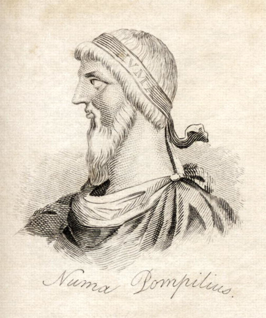 Detail of Numa Pompilius by English School