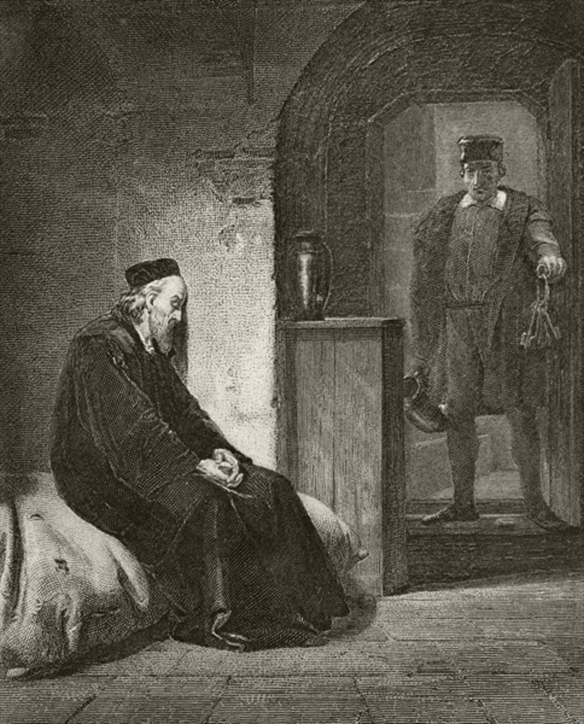 Detail of Sir Thomas More in prison by English School