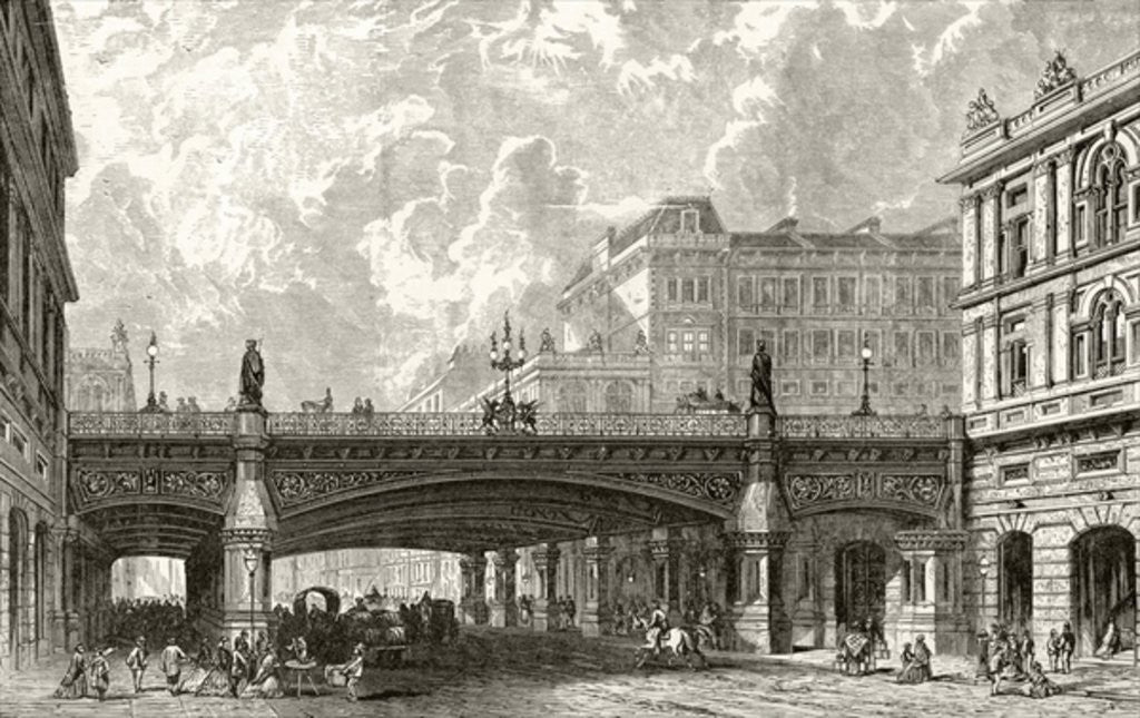 Detail of Holborn Viaduct by English School