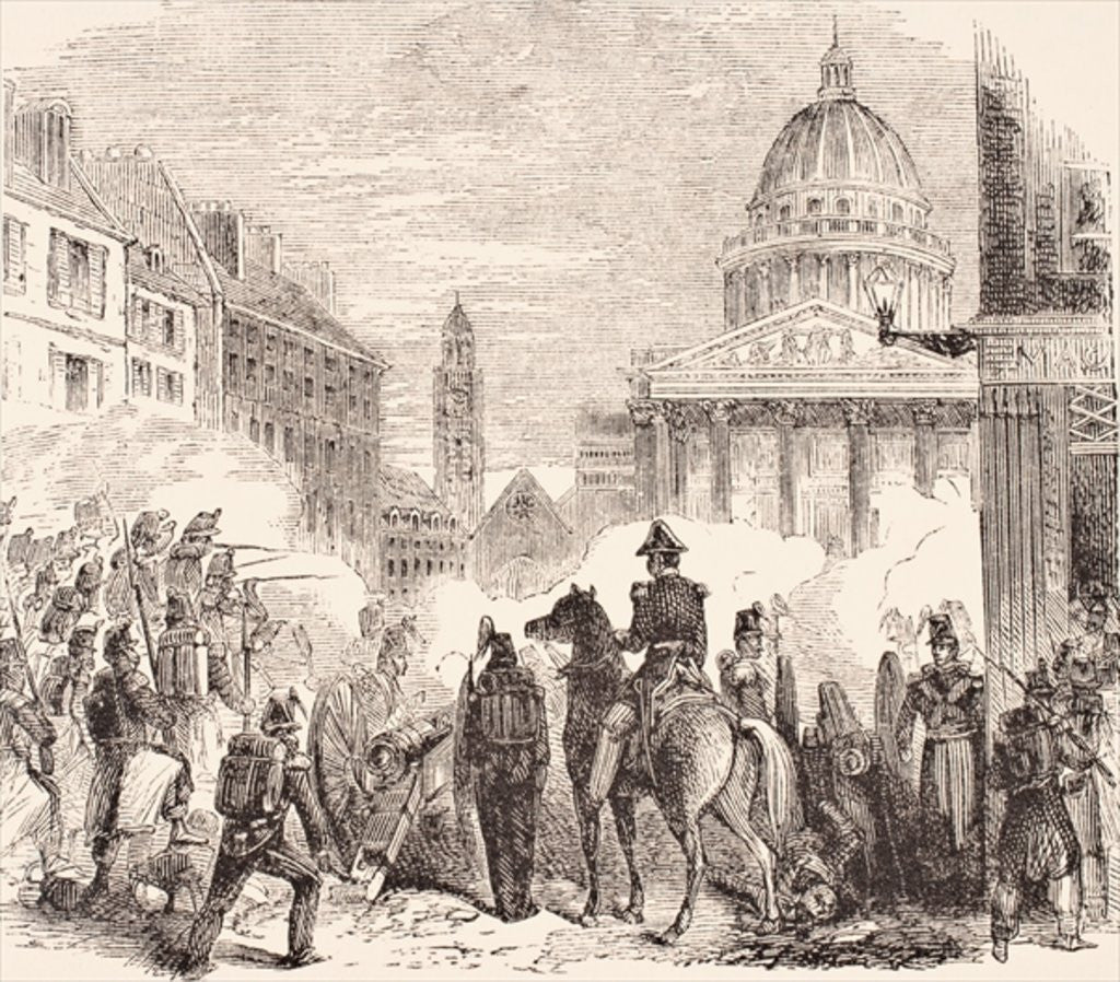 Detail of Incident near the Pantheon, Paris, during the French workers' revolt June 23-25, 1848 by English School