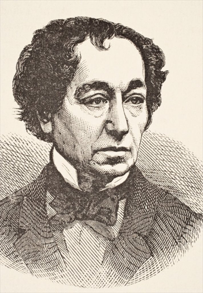 Detail of Benjamin Disraeli by English School