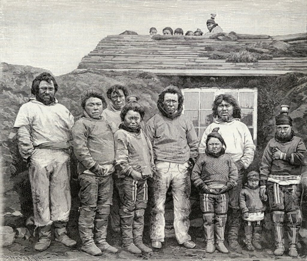 Detail of An Eskimo family by English School