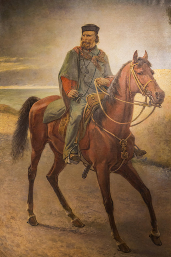 Detail of Giuseppe Garibaldi on horseback by Carlo Ademollo