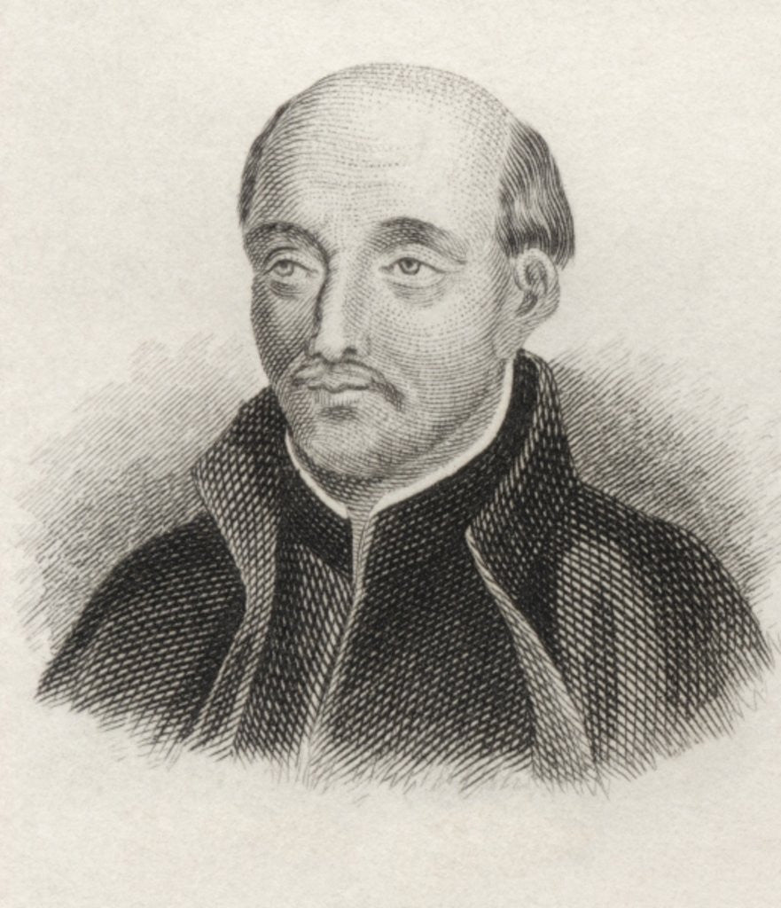 Detail of St. Ignatius of Loyola by English School