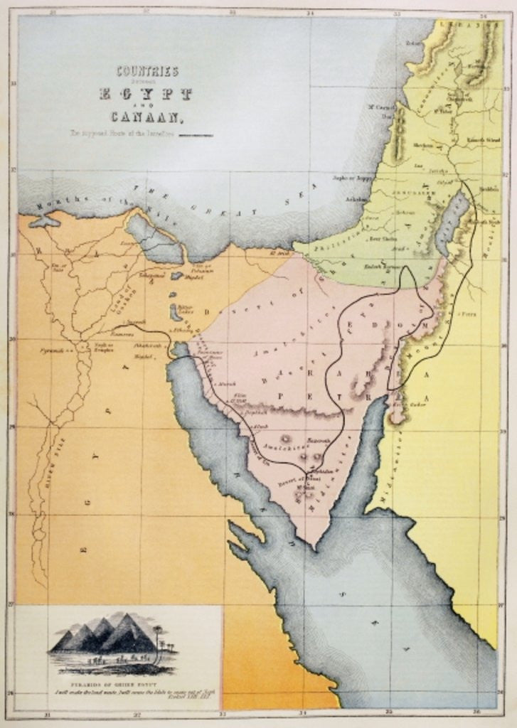 Detail of Countries between Egypt and Canaan by English School