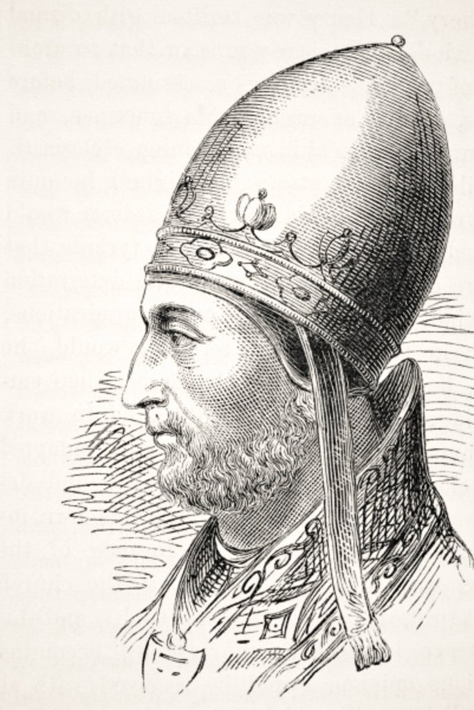 Detail of Pope Adrian IV by English School