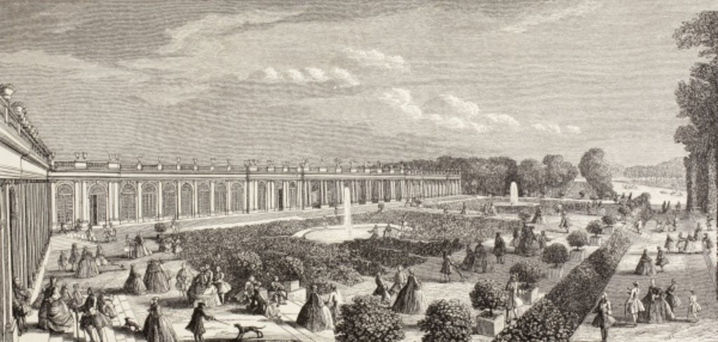 Detail of Le Grand Trianon, Versailles, in the 18th century by French School