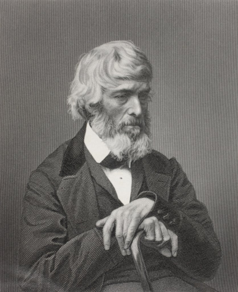 Detail of Thomas Carlyle by English School