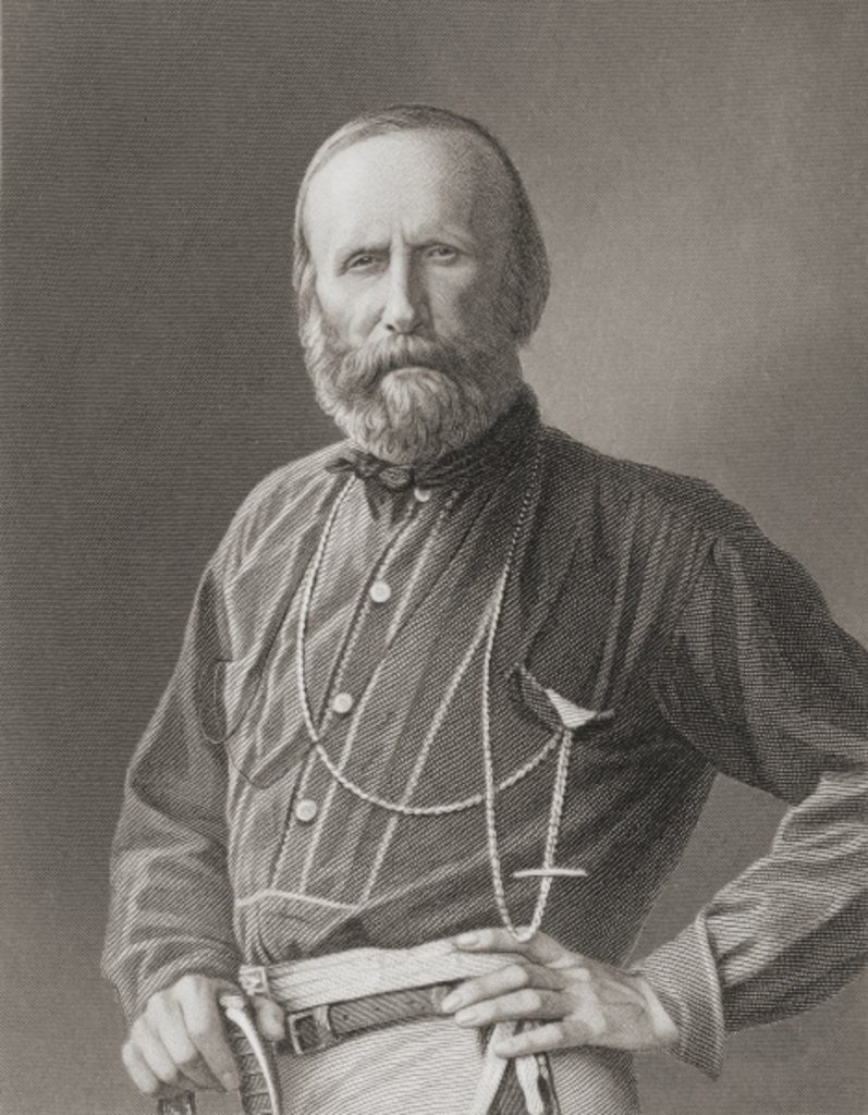 Detail of Giuseppe Garibaldi by English School