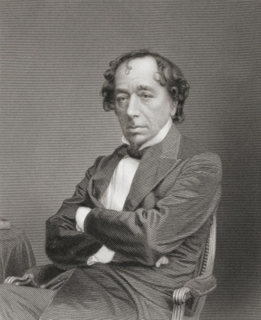 Detail of Benjamin Disraeli, 1st Earl of Beaconsfield by English School