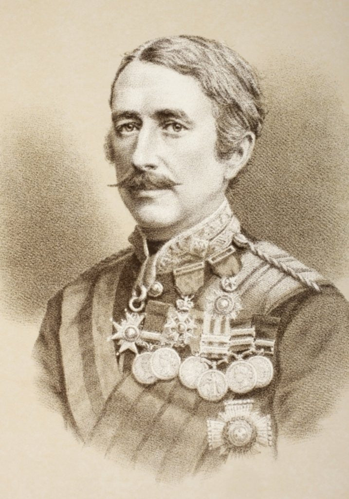 Detail of Field Marshal Garnet Joseph Wolseley, 1st Viscount Wolseley by English School