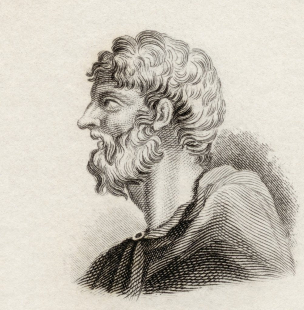 Detail of Alcaeus of Mytilene by English School