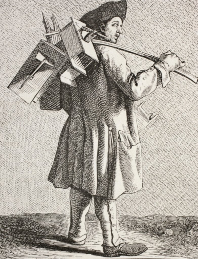 Detail of A Rat Cather with his Traps in 18th Century Paris by French School