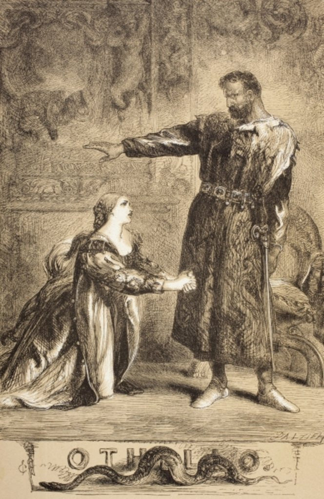 Detail of Othello by Sir John Gilbert