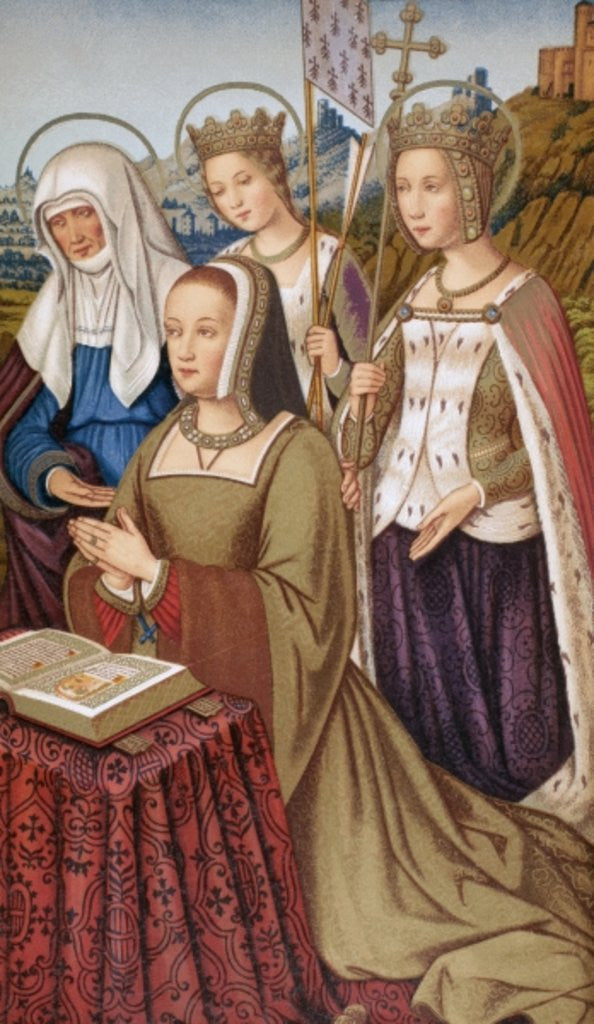 Detail of Anne of Brittany by English School