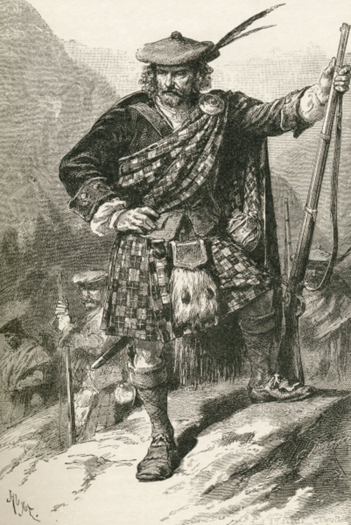 Detail of Highland Chieftain by English School