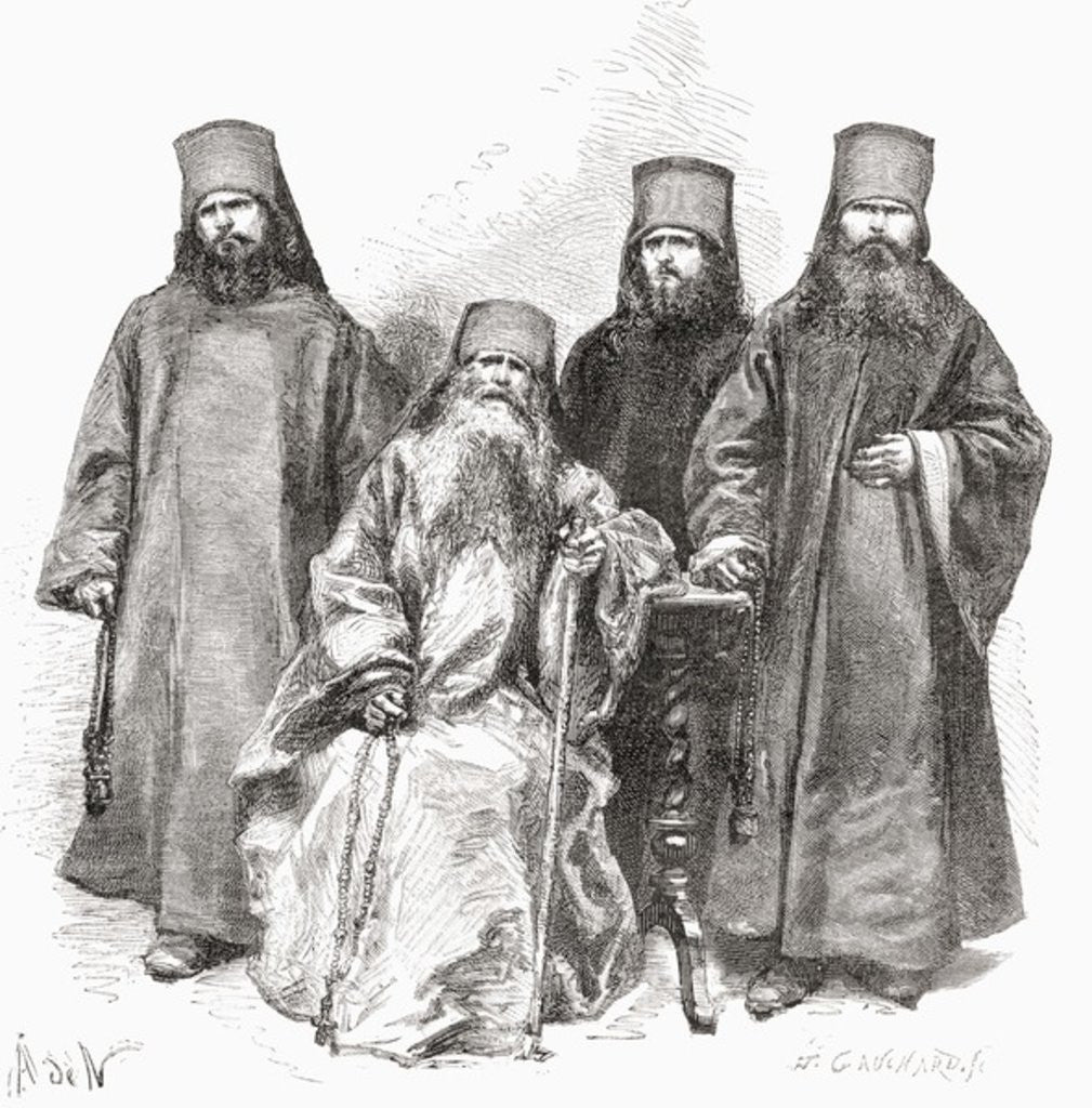 Detail of Filaret Drozdov and his three sons by European School