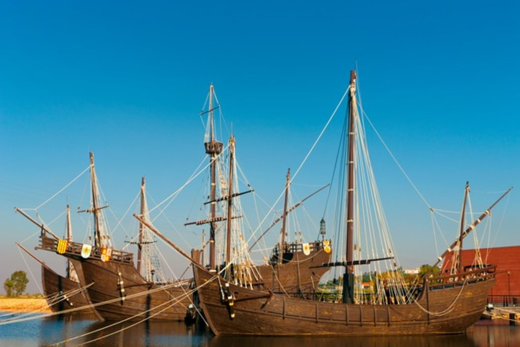 Replicas of the ships Columbus sailed to the Americas in