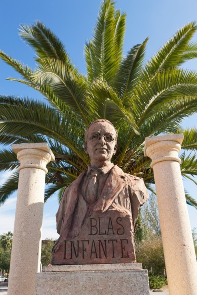 Monument to Blas Infante, Niebla, Huelva Province, Andalusia, southern Spain