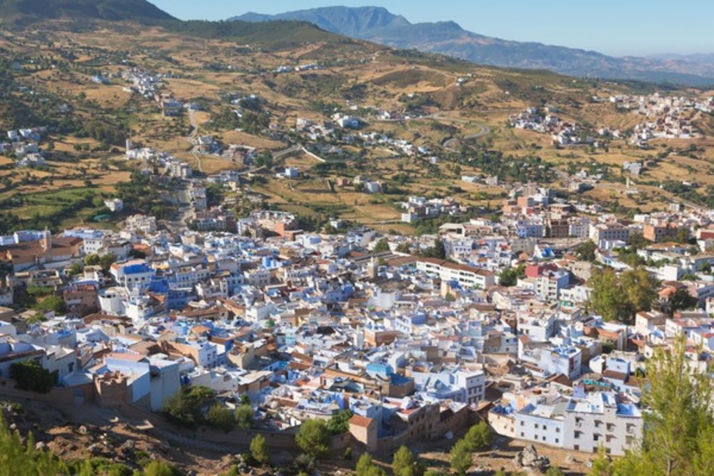Chefchaouen, Morocco, Overall view of the town