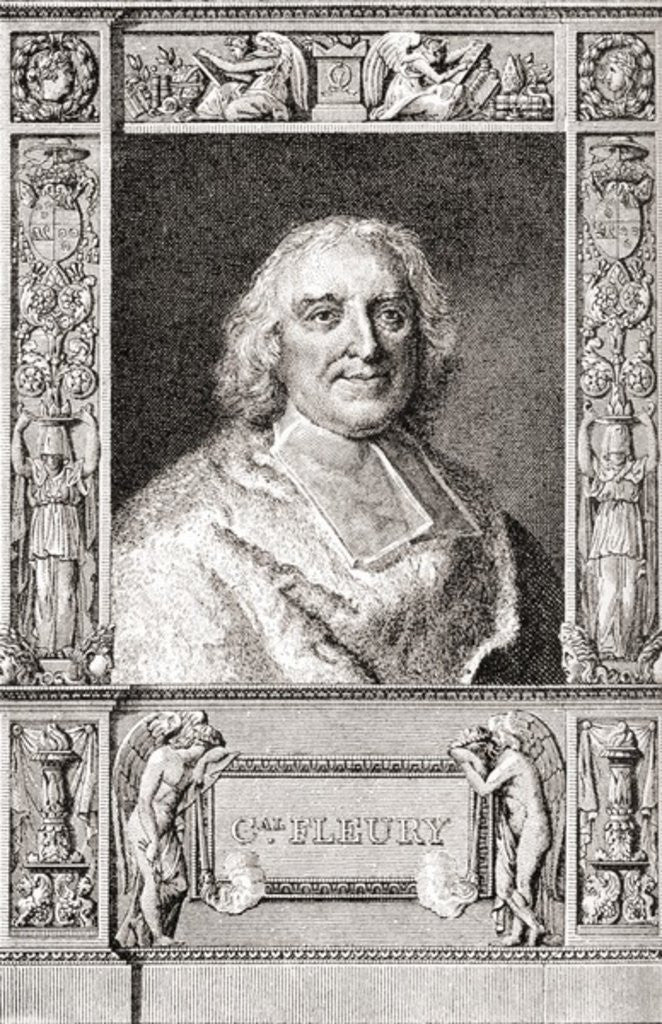 Detail of André-Hercule de Fleury, Bishop of Fréjus. French cardinal and chief minister of Louis XV by French School