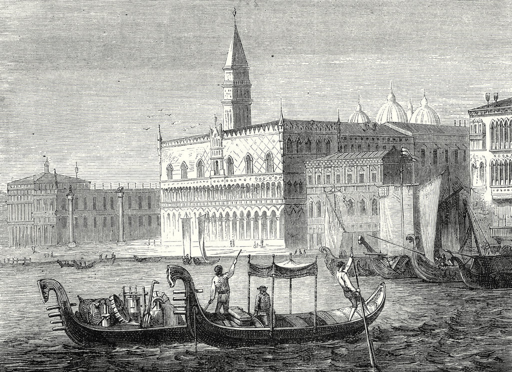 Detail of Arrival of Denis Papin in Venice by Anonymous