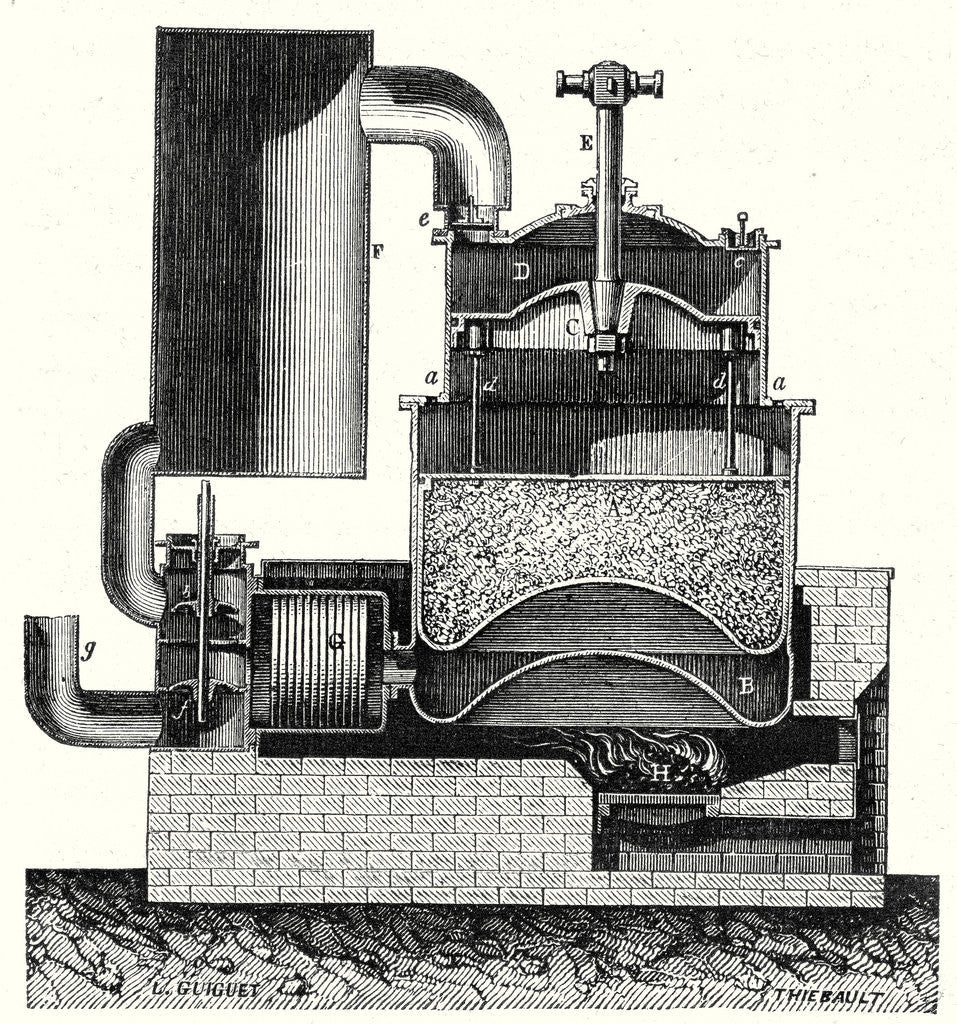 Detail of Ericsson's Hot Air Machine by Anonymous