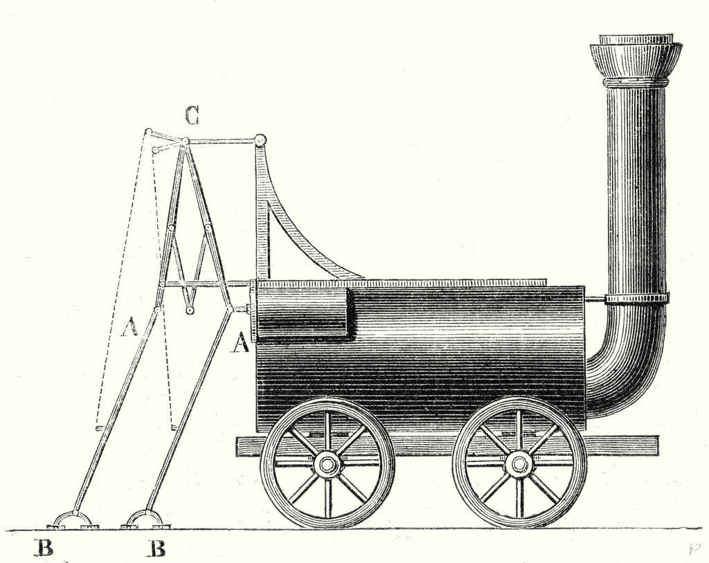 Detail of Brunton's Locomotive with Crutches by Anonymous