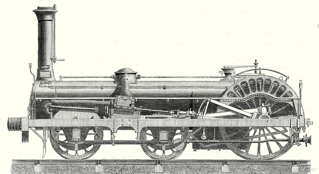 Detail of Crampton Locomotive by Anonymous