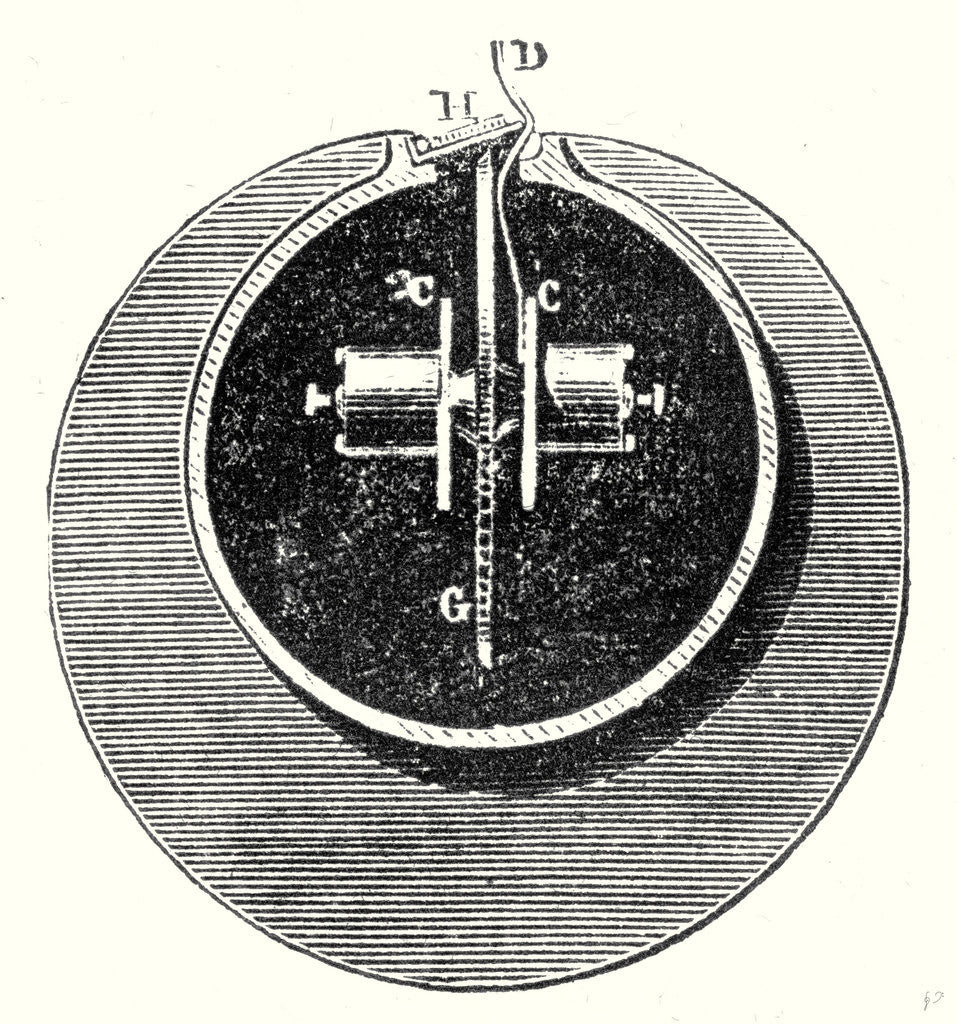 Detail of Cross Section of the Interior of the Atmospheric Tube by Anonymous
